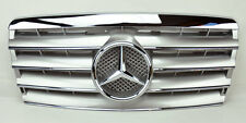 Mercedes E Class W124 94-95 5 Fin Front Hood Sport Silver Chrome Grill Grille