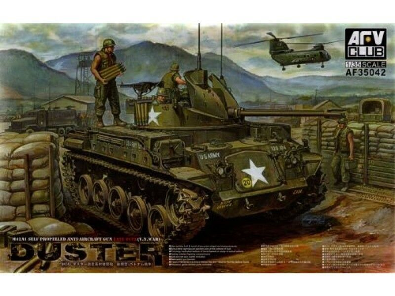 1 35 AFV Club M42A1 Self-propelled AA Gun Late Type (V.N.War) Duster