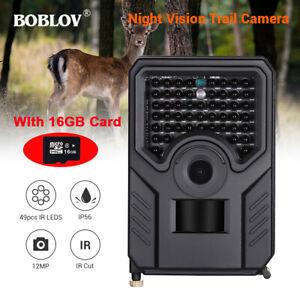 BOBLOV-16GB-12MP-1080P-Hunting-Scouting-Trail-Home-Security-Camera-49PCS-IR-LEDs