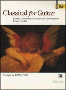 Classique Pour Guitare Masters En Onglet Guitare Solo Sheet Music Book-afficher Le Titre D'origine éLéGant En Odeur