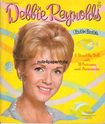 VINTGE 1962 DEBBIE REYNOLDS PAPER DOLL ~WHITMAN~ NICE LASER REPRO~ORG SIZE UNCUT