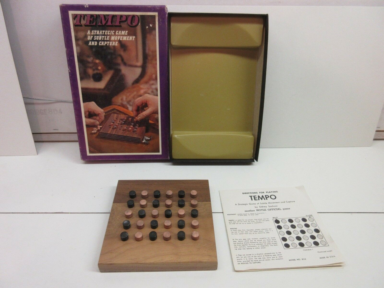 Tempo vintage strategy game - wood and metal