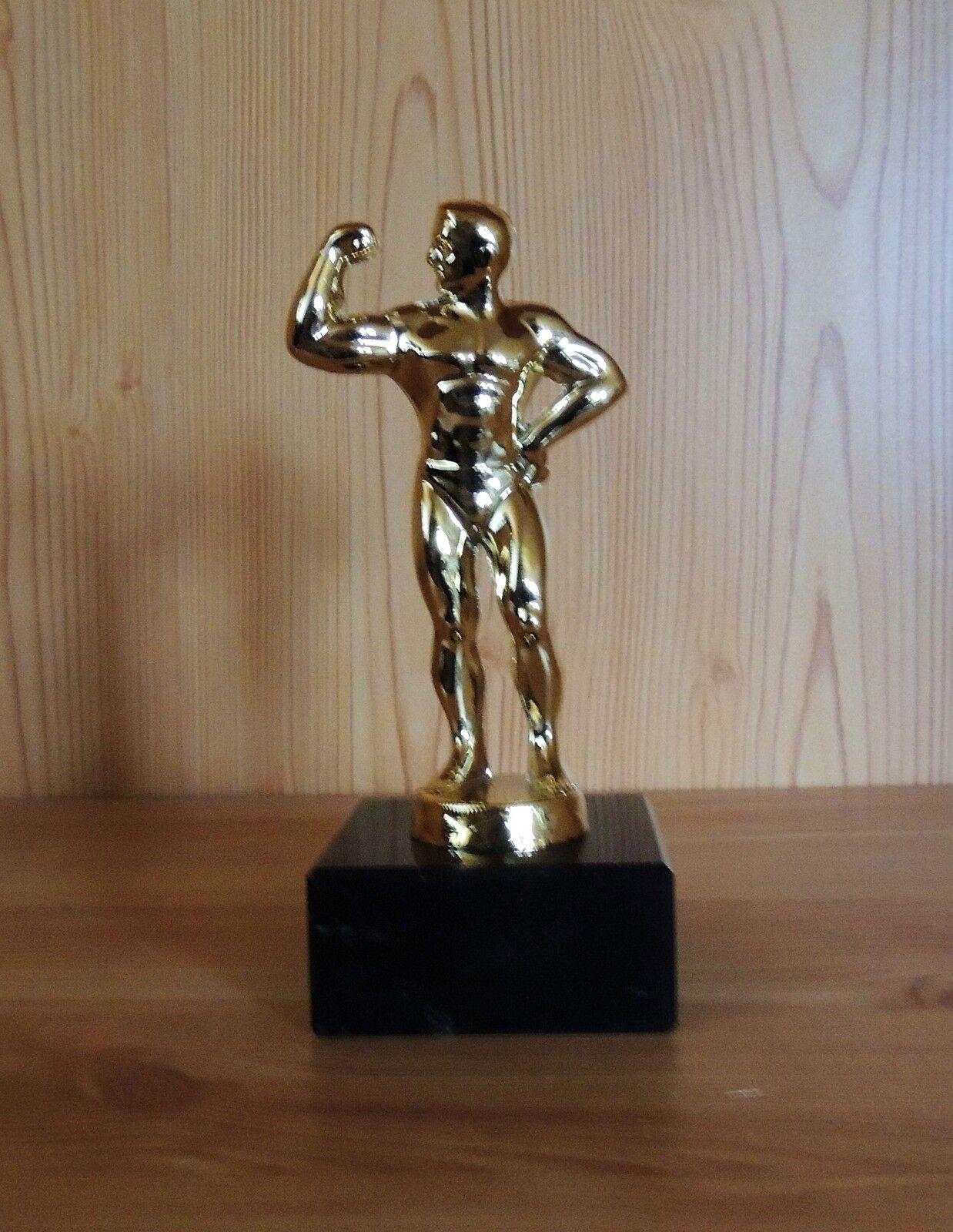 10 Bodybuilding Figuren aus Metall Adonis + Gravur Made in Germany Pokal Pokale