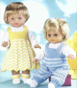 Knitting Pattern For Tiny Tears Doll : BOY & GIRL DOLLS OUTFIT KNITTING PATTERN IDEAL TINY TEARS (1078) eBay