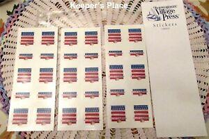 30-Genuine-PROUDLY-LONGABERGER-Basket-American-Flag-Stickers-Made-USA-2002