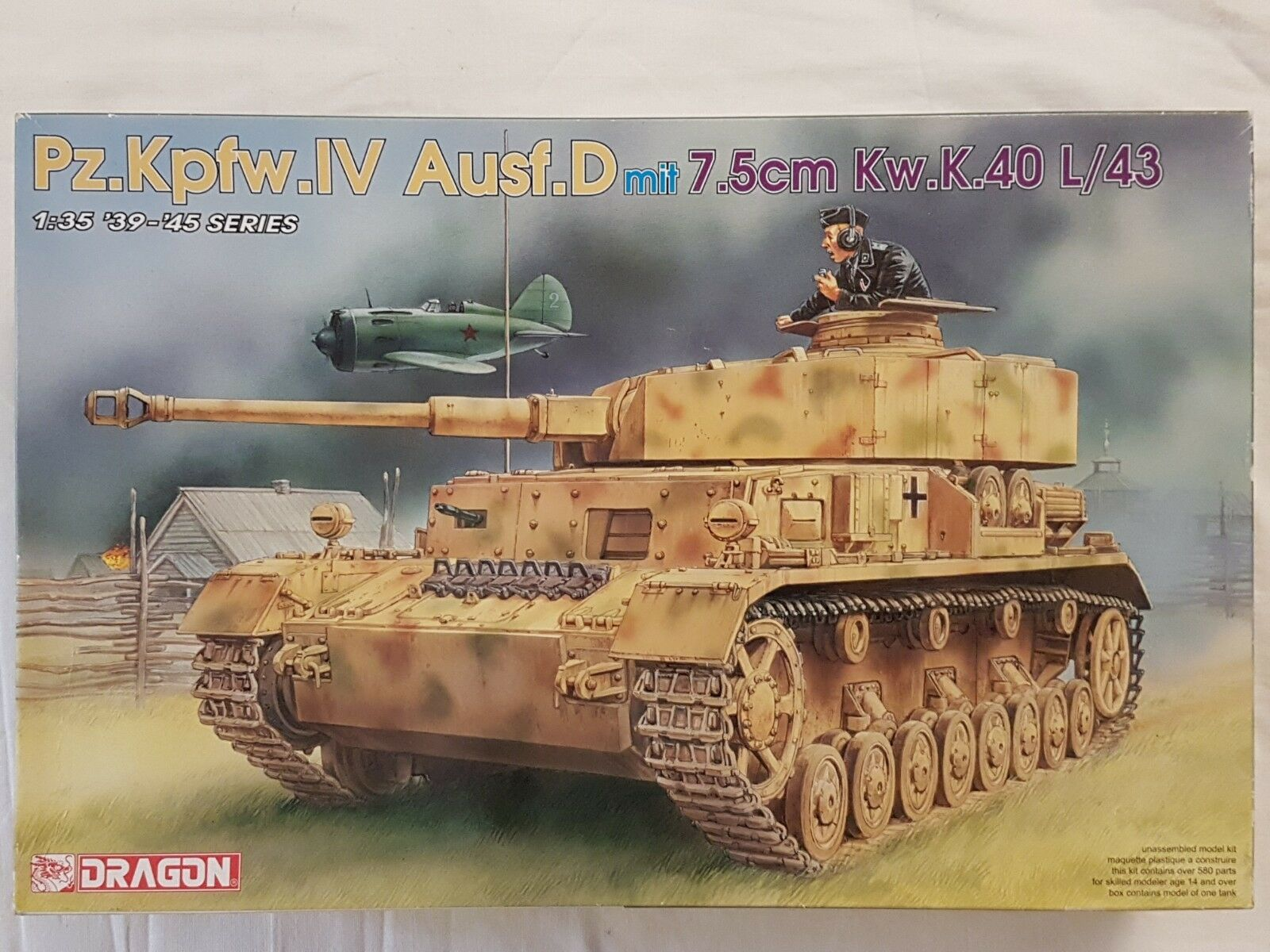 Dragon 6330 Pz.Kpfw.IV Ausf.D mit 7,5cm Kw.K.40 L 43 1 35 Neu und eingetütet