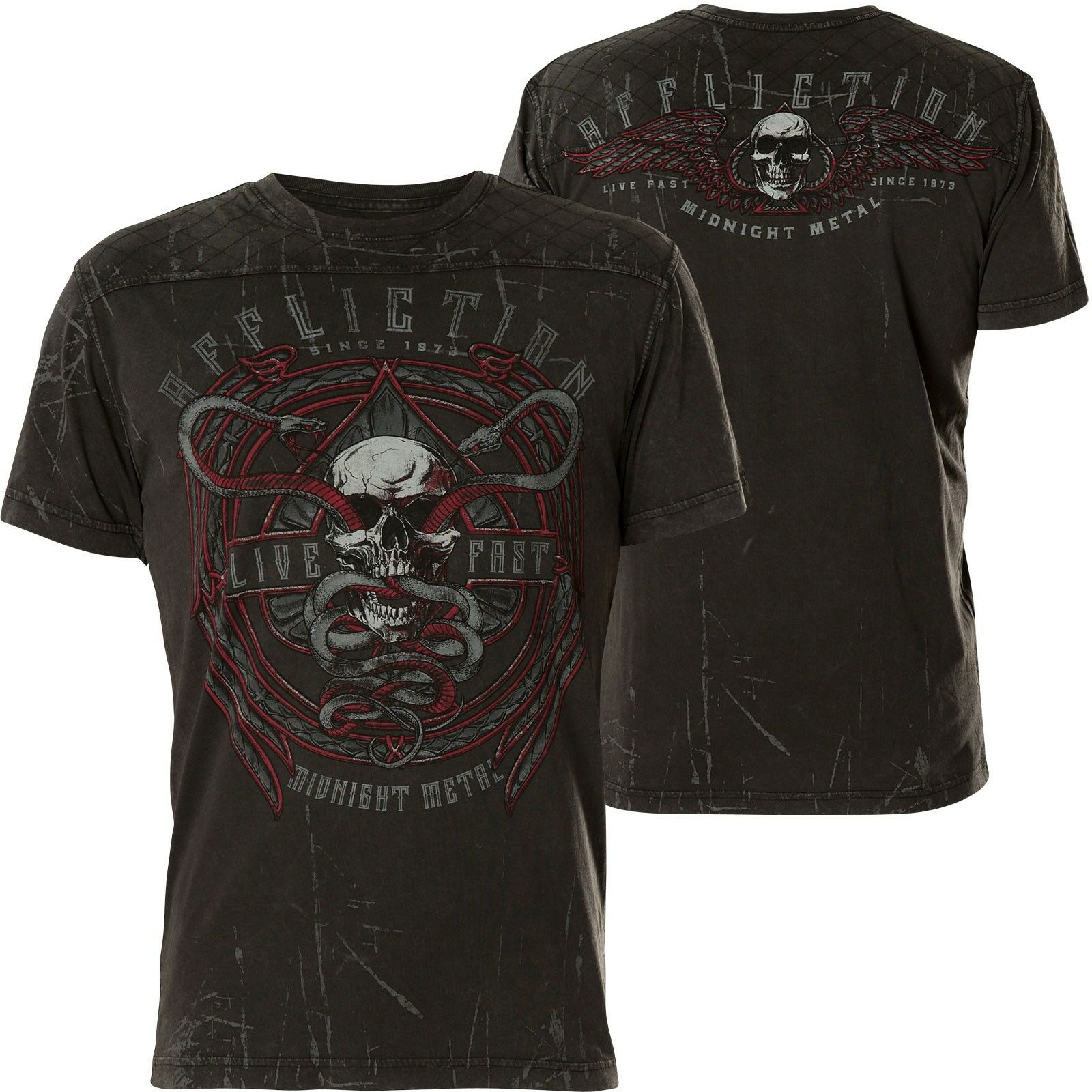 AFFLICTION T-Shirt Temple Viper Schwarz T-Shirts