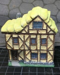 15-mm-European-Tudor-style-2-story-Thatch-house-Unpainted-building-with-interior