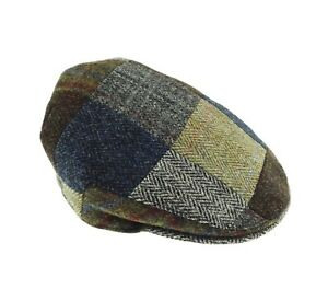 4e1ece356 Details about Gents Authentic Harris Tweed Patch Cap Assorted Tweeds GH0540