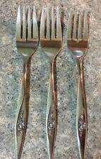 Salad Dessert Forks ONEIDACRAFT DELUXE STAINLESS Oneida LASTING ROSE Six 6