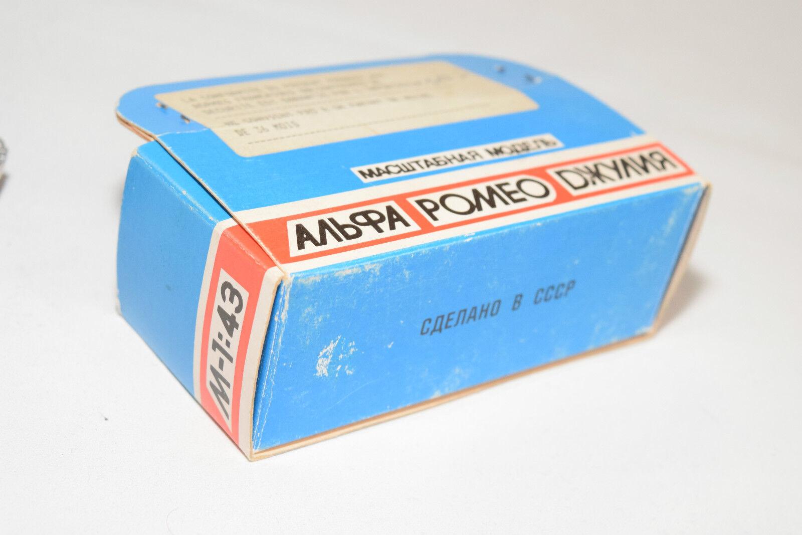 RUSSIAN POLITOYS URSS ALFA ROMEO GIULIA SS GREY NM BOXED BOXED BOXED RARE SELTEN RARO bc7635