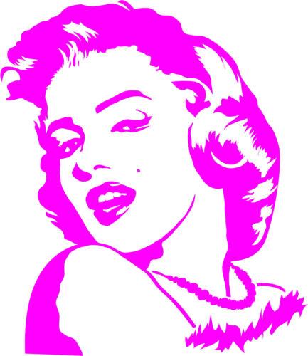 Marilyn Monroe Sticker Wall Tattoo Sticker Rear Window Car Mirror
