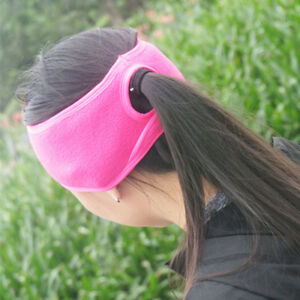 Image is loading Comfortable-Fleece-Ponytail-Ear-Warmer-Headband-Running -Sport- f73f234acb7
