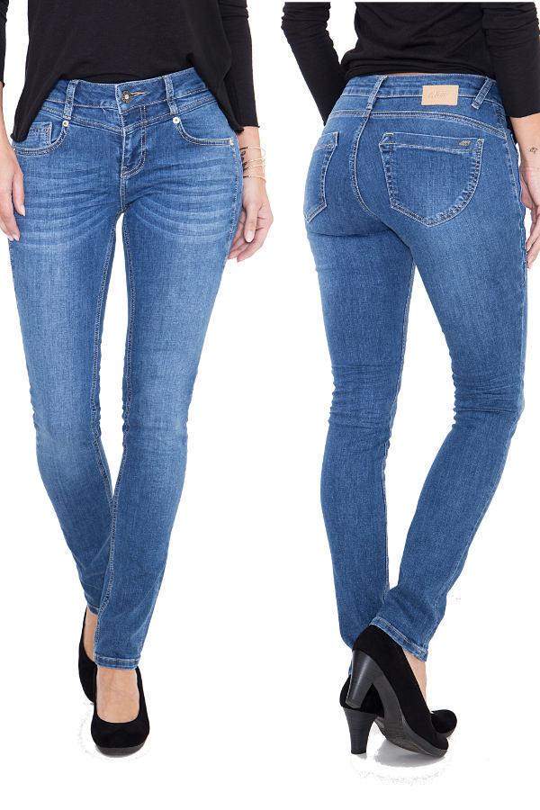 NEU  ATT Jeans ZOE Mittelblue 274 Wonderstretch Denim - Slim Fit Regular Waist