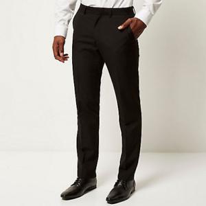 Men-039-s-Boys-Black-Skinny-Leg-Slim-Fit-School-Trouser-039-s-Bottom-039-s-Formal-Work-Pant-039