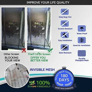 Heavy Duty Double Door Magnetic Screen Mesh Net Curtain