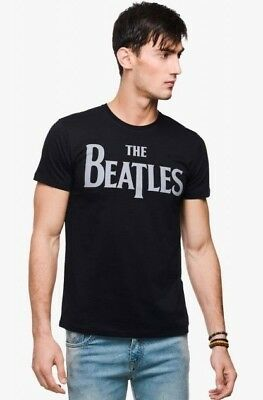THE BEATLES RETRO STYLE ROCK LOGO GIFT DAD MEN TEE SHIRT T SHIRT BEATLES S-XXXL