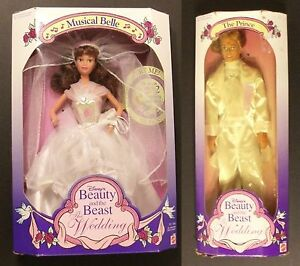Disney-Barbie-Doll-Beauty-and-the-Beast-Wedding-Musical-Belle-amp-The-Prince