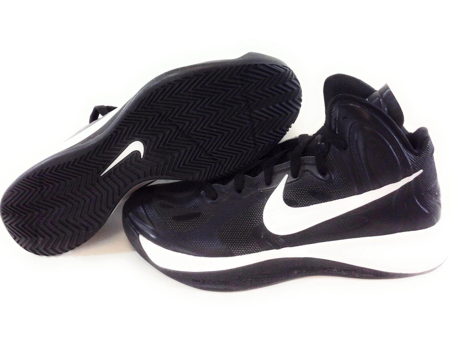 NEW Womens NIKE Hyperfuse TB 525021 001 Black White Basketball Sneakers shoes