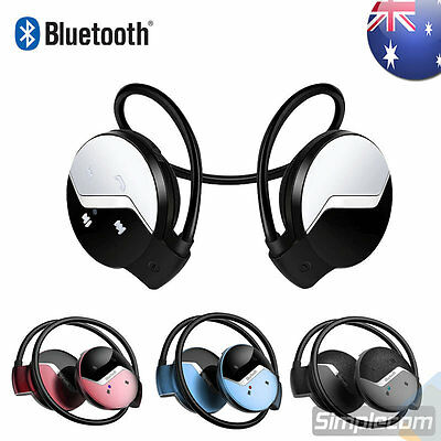 Bluetooth 4.0 Over-Ear Sports Neckband Wireless Stereo Headphones Mic Handsfree