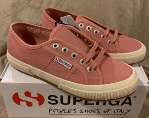 571ed398dae SUPERGA 2750 COTU Classic Womens US 6.5 Dusty Rose Pink Canvas ...