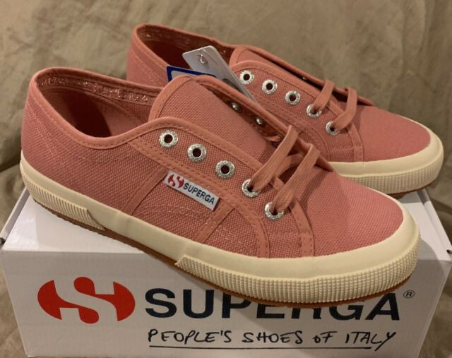 New SUPERGA 2750 COTU Classic Womens US 7 Dusty Rose Pink Canvas Sneaker Trainer