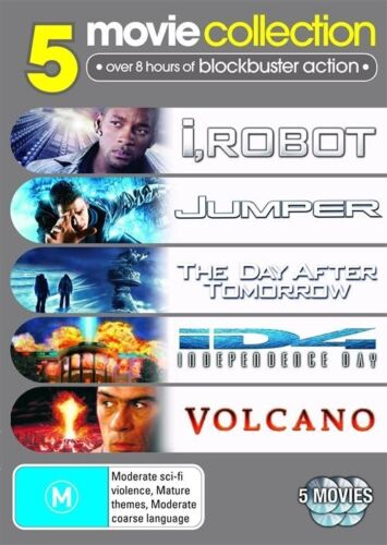 1 of 1 - I, Robot / Jumper / The Day After Tomorrow / Independence Day / Volcano (DVD,...