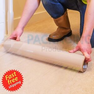 Image Is Loading Carpet Floor Protection Self Adhesive Protector Clear Roll