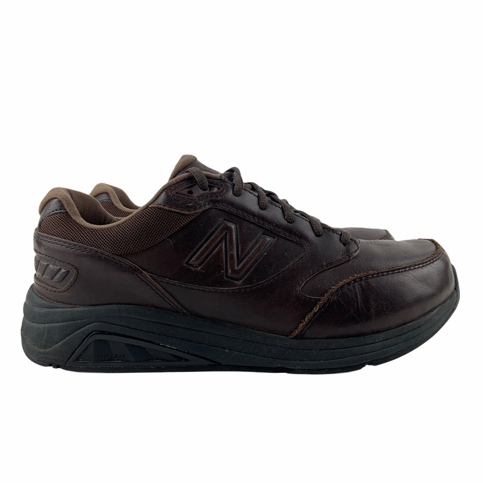 New Balance MW928BR3 Brown Leather Walking Shoes Rollbar Mens US 8 (6E Wide)