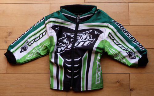 Kids Wulfsport Quad, Karting Childrens Wulf MX Predator Ride Jacket Green 2-3yrs