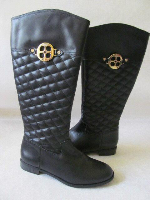 IMAN noir noir noir STITCHED DESIGN KNEE-HIGH LEATHER bottes Taille 11 M - NEW ff6ceb