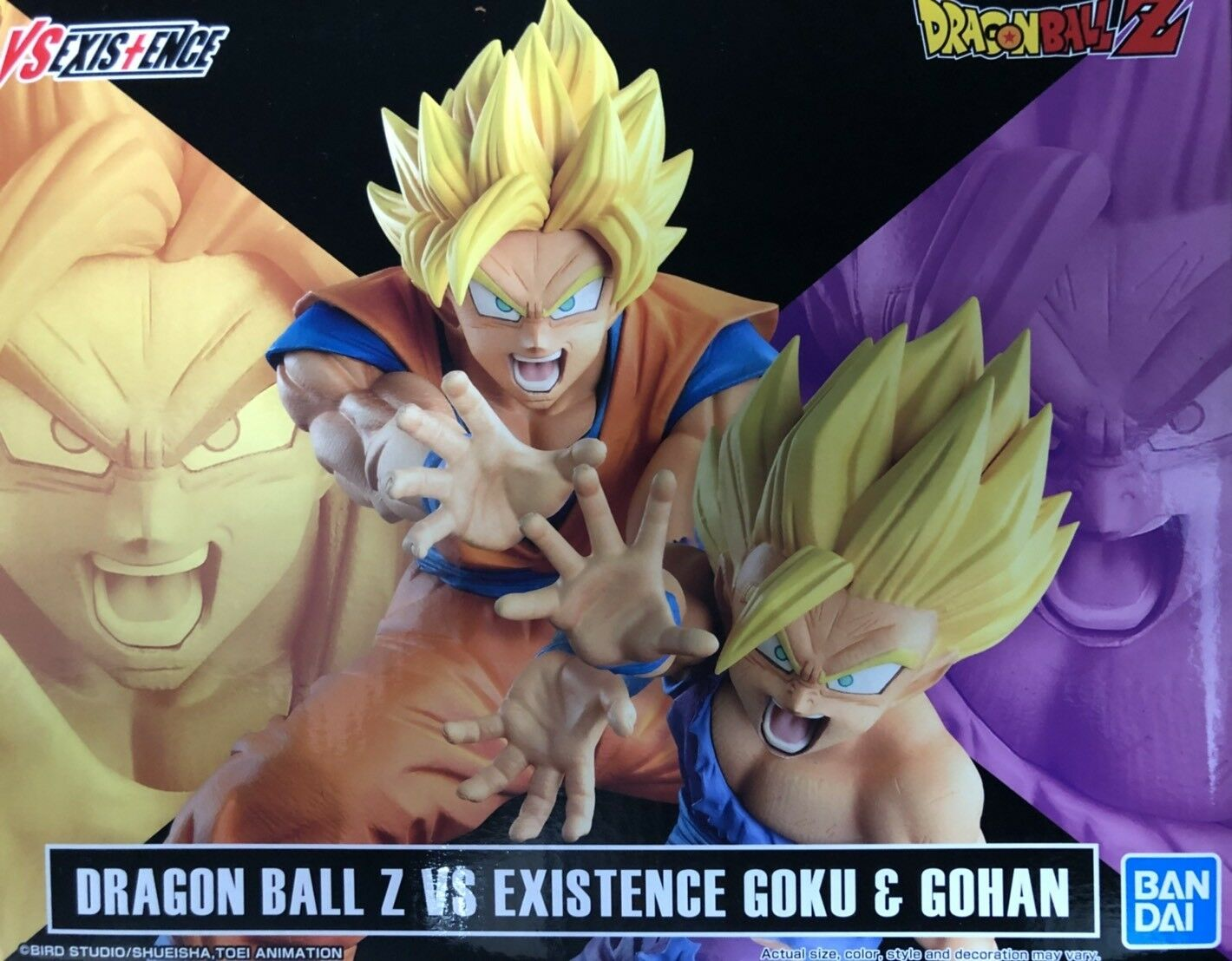 BANDAI BANPRESTO DRAGON BALL Z VS EXISTENCE GOKU & GOHAN FIGURE OVERSEA LIMITED