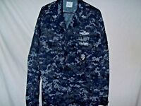US NAVY Digital Blue Camo NWU Uniform Shirt/Jacket X X-LARGE-REGULAR