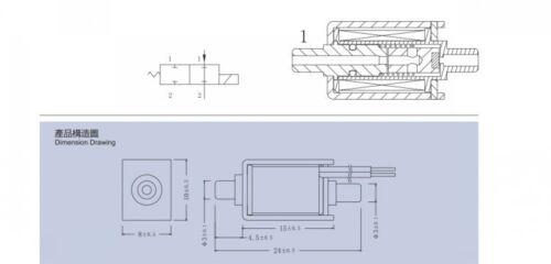 DC 5V 6V Mini Eléctrica Solenoide Válvula de aire pequeño N//c Control de tipo normalmente cerrado