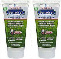 Benadryl Children's Anti-itch Cooling Gel, 3 Oz Ea, For Kids 2+ (2 Pack)