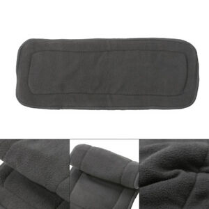 1PC 4 Layers Reusable Bamboo Charcoal Insert Baby Cloth Diaper Nappy Inserts New