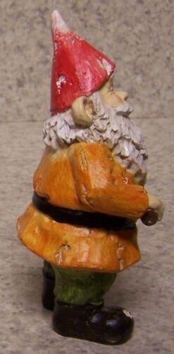 "Garden Accent Orange Freestanding Gnome NEW 4 3//4/"" tall"