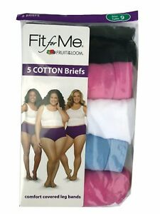 Fit-for-Me-by-Fruit-of-the-Loom-Women-039-s-Cotton-Briefs-5-Pack-100-Cotton