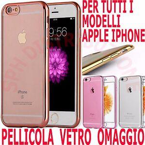 COVER-Pellicola-in-VETRO-Custodia-BUMPER-SILICONE-e-sottile-per-Apple-Iphone