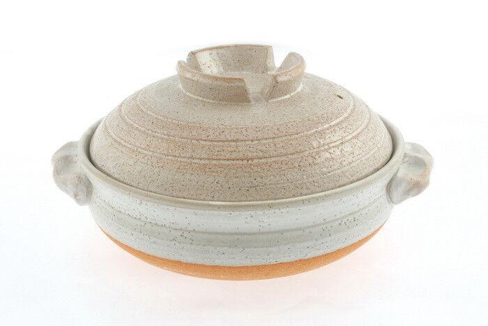 1 X 10-3 4  japonés Donabe Hot Pot Shigaraki Brushstroke Diseño Cazuela Pan