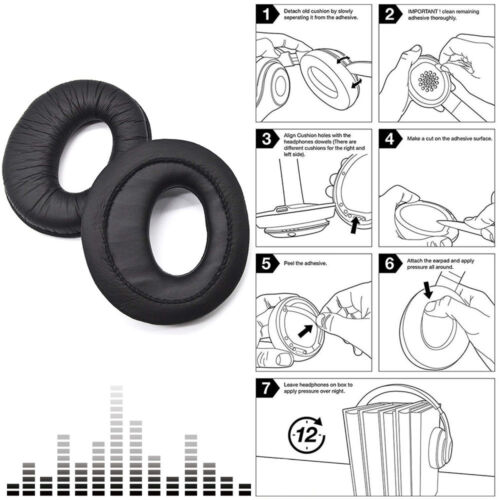 A Pair Replacement Earpads Ear Pads Cushion For Sony MDR-RF985R RF985R Headphone
