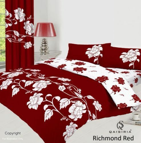 Duvet Cover Bedding Set With Pillowcase or Fitted Sheet Single Double King uk