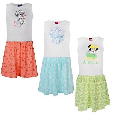 Ex-Store Girls Dress Disney Characters Sleeveless Summer Dresses