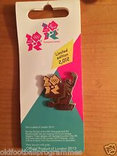 LONDON 2012 OLYMPICS TORCH RELAY (GUERNSEY) PIN BADGE (15.07.2012)