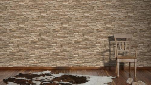 Tapete Natursteinwand Optik Vliestapete Best of Wood AS 2 x 95833-2 2 Rollen