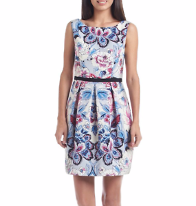 ADRIANNA PAPELL® 16 Floral Fit & Flare Dress NWT