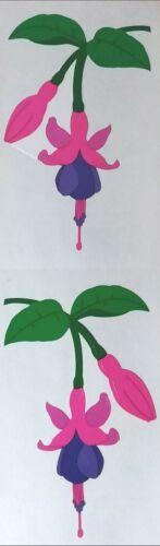 Mrs Grossman`s FUCHSIA PINK FLOWER  Stickers  Full Sheet 2001
