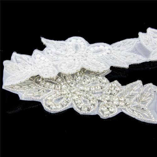 1 yard Silber Kristall Strass Strassborte Gürtel Applikation Handwerk nähen Deco