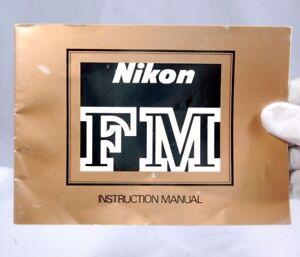 Nikon Camera FM Instruction Manual Guide Genuine (EN)