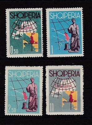 Albanien 1962 Postfrisch Minr. 683-686 Siehe Zähnung